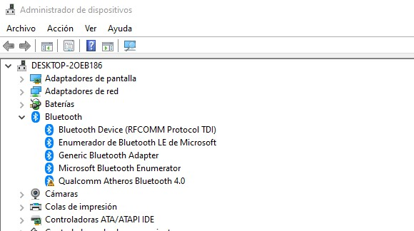 Dispositivos Bluetooth conectados