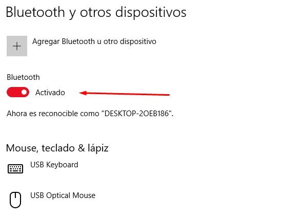 Enviar fotos con un adaptador Bluetooth
